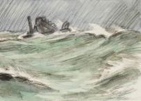 Bateau en mer. Le Havre,