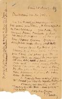 Lettre de Eugène Boudin à Pieter van der Velde, 20 avril 1889