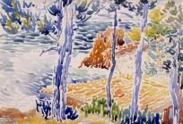 Arbres au bord de la mer, Rochers d'Agay, Arbres ou bord de la mer