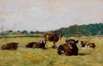 Paysage : étude de vaches