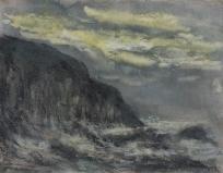 Falaise et mer agitée