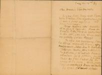 Lettre de Eugène Boudin à Pieter van der Velde, 20 décembre 1889