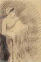 Femme ôtant sa chemise