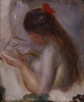 Portrait de jeune fille lisant