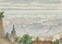 Le Havre vu de la chapelle d'Ingouville,