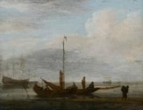 Barque au bord d'une plage