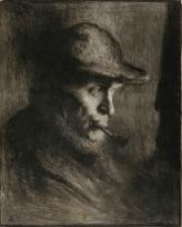Portrait d'homme à la pipe