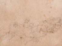 Scène avec personnages, rocher