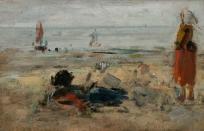 Pêcheuses sur la plage de Berck