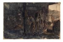 Triage du charbon dans les hangars