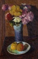 Bouquet de fleurs et pommes