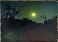 Lever de lune, vieille route de Treduder