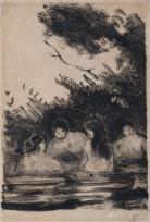 Quatre baigneuses , Quatre femmes se baignant