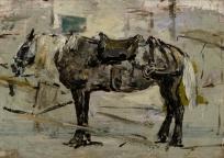 Cheval harnaché