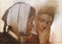 Etude de deux têtes de femmes