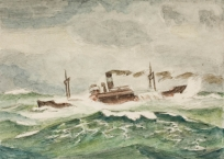 Cargo en mer. Le Havre.  ,