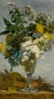 Fleurs dans un verre