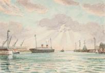 Entrée du port du Havre,
