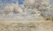 Grand Ciel d'orage sur la plage de Trouville