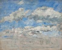 Etude de nuages sur un ciel bleu
