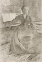"""Madame Camus au piano (Etude pour """"Madame Camus au piano"""")"""