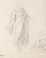 Copie d'après Ingres, « L'Apothéose d'Homère » (figure d'Apelles), Ancien titre : Homme de profil, drapé, toge, « L'Apothéose d'Homère »