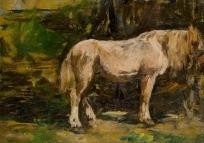 Etude de cheval sous des arbres