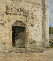 Portail de l'église Saint-Thomas, à Touques