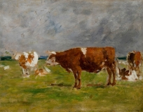 Vaches dans un paysage