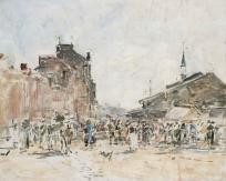 Marché de Trouville (étude)