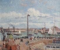 L'Anse des Pilotes et le brise-lames est, Le Havre, après-midi, temps ensoleillé