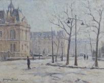L'Hôtel de ville du Havre en 1940, Le Havre sous la neige (titre du registre d'inventaire)