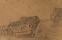 Cabanes de pêcheurs à Etretat