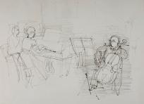 Pablo Casals et une pianiste
