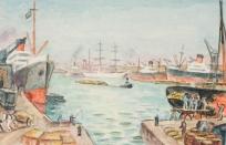 Vue du bassin de l'Eure, Vue du Havre (ancien titre)