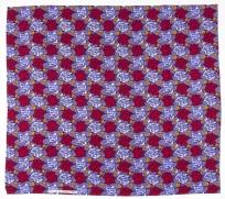 Tissus « Roses bleues et carmin sur fond bleu »