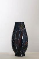 Vase aux naïades, poissons et volatiles