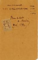 Lettre de Eugène Boudin à Pieter van der Velde, mai 1889
