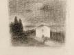 Paysage avec maison et cyprès. Étude pour « Le Nuage »