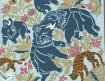 Foulard aux éléphants bleus