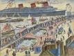 """Inauguration du """"Normandie"""" (Le départ vu du musée des Beaux-Arts), Le Paquebot Normandie (Titre porté à l'inventaire en 1947)"""