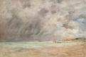 Ciel d'orage sur l'estuaire du Havre