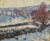 Paysage de neige à Crozant