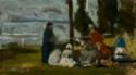 Personnages assis auprès du calvaire de Notre-Dame de Grâce