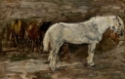 Plusieurs chevaux à l'écurie