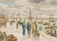 Pêcheurs sur le Grand Quai, le Havre ,