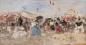 Trouville. Scène de plage