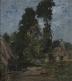 Intérieur, cour de ferme, grands arbres