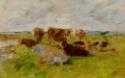 Etude de vaches dans un pré