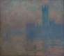 Le Parlement de Londres, effet de brouillard,